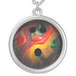 Colourful Swirl Bowling Ball Custom Necklace