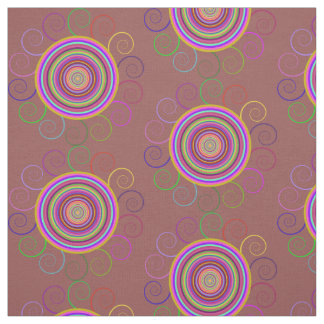 Colourful Swirl Fabric