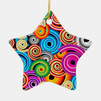 Colourful Swirls Christmas Ornament