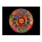 Colourful Symbolic Sun Mandala Postcard