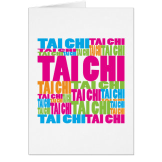 Colourful Tai Chi Greeting Card