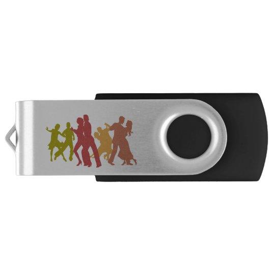 Colourful Tango Dancers USB Flash Drive