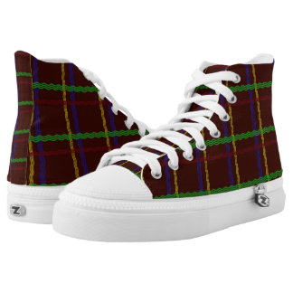 Colourful Tartan Hi Tops Printed Shoes
