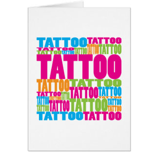 Colourful Tattoo Greeting Card