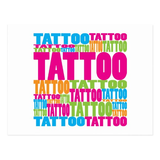 Colourful Tattoo Post Cards