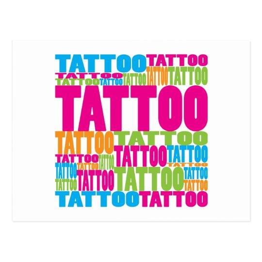 Colourful Tattoo Postcard