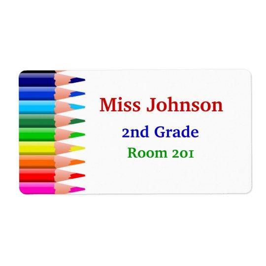 Colourful Teacher's Name Tags