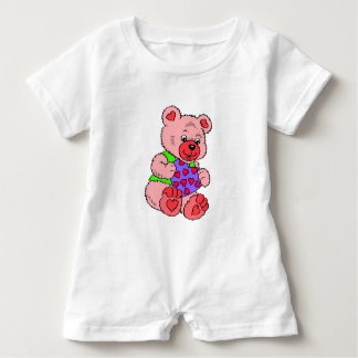 Colourful  Teddy Bears Baby Bodysuit