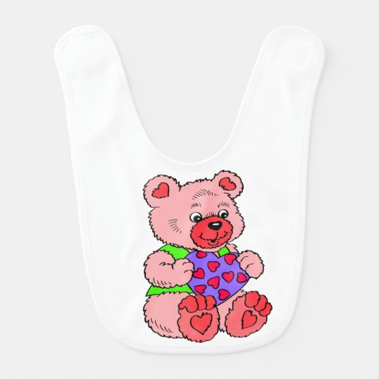 Colourful Teddy Bears Bib