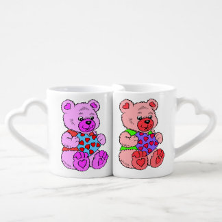Colourful  Teddy Bears Coffee Mug Set