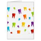 Colourful teeth card