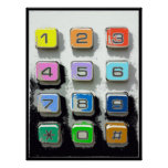 colourful telephone buttons