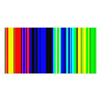 Colourful Television Stripes wallpaper Photo Card Template