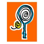 Colourful Tennis Spiral Rope Postcard