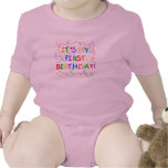 Colourful Text It's My First Birthday Romper