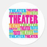 Colourful Theatre Stickers