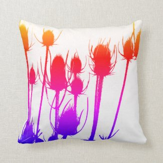 Colourful Thistle Cushion