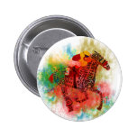 Colourful Thoroughbred in Typography Button