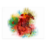 Colourful Thoroughbred in Typography Postcard