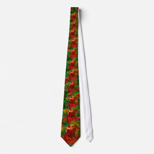 Colourful Thoroughbred in Typography Tie