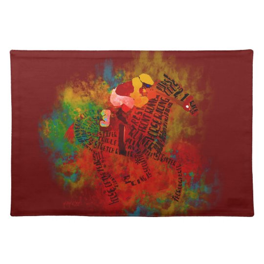 Colourful Thoroughbred Racehorse Placemats