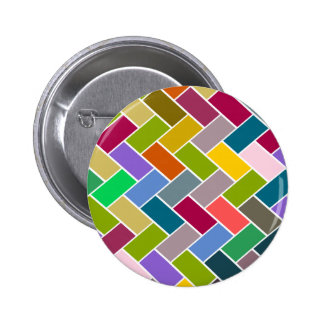 Colourful Tiled Mosaic Pattern 6 Cm Round Badge