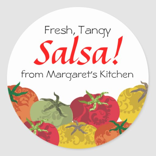 colourful tomatoes from my kitchen gift tag sticke sticker