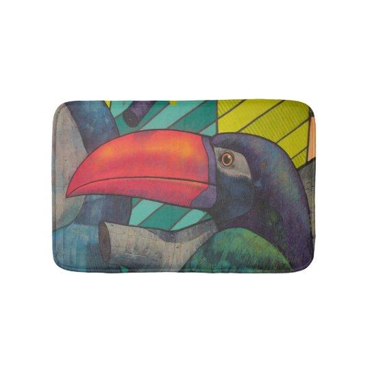 Colourful Toucan Graffiti Bath Mat