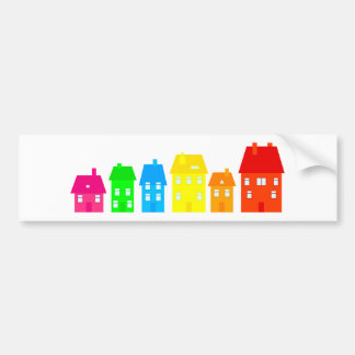 Colourful Town Bumper Sticker