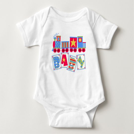 Colourful Train Baby Bodysuit