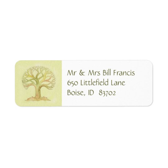 Colourful Tree of Life address label
