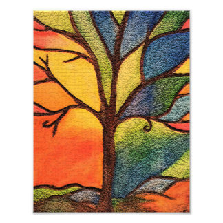 Colourful Tree photo print