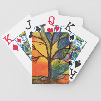 Colourful Tree Playing Cards