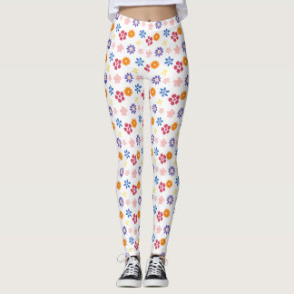 Colourful trendy floral Leggings