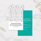 Colourful Triangle Confetti Pattern Business Card