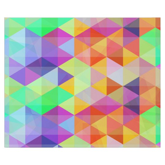 Colourful triangle polygonal pattern wrapping paper