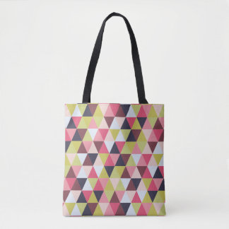 Colourful Triangle Tote (Mostly Pinks and Purples)