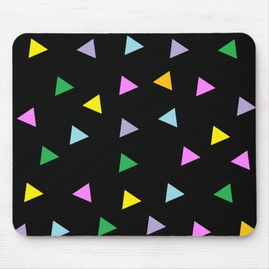 Colourful Triangles Mouse Pad