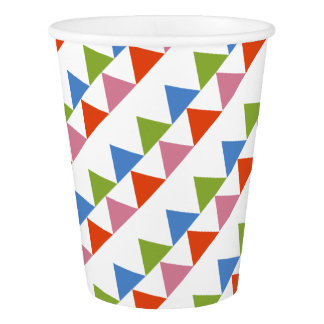 colourful triangles paper cup