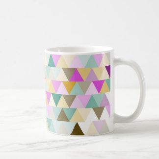 Colourful Triangles Pattern Coffee Mug
