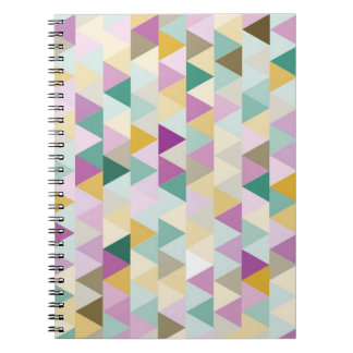 Colourful Triangles Pattern Notebook