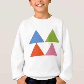 colourful triangles sweatshirt
