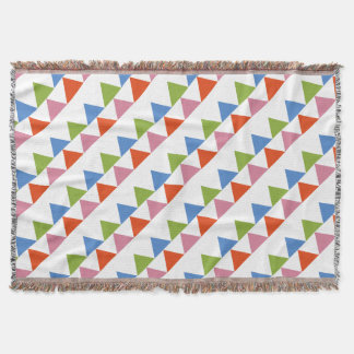 colourful triangles throw blanket