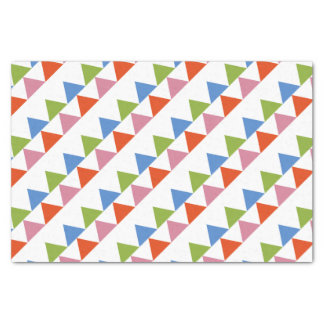 colourful triangles tissue paper