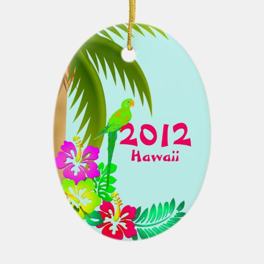 Colourful Tropical Christmas Ornament