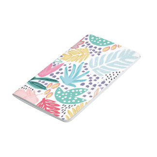 Colourful Tropical Collage Pattern Pocket Journal
