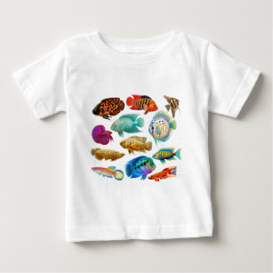 Colourful Tropical Fish Baby T-Shirt