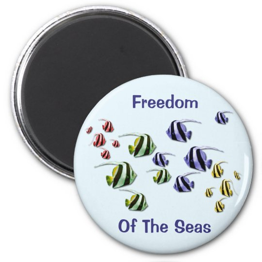 Colourful Tropical Fish Swimming Free Magnet