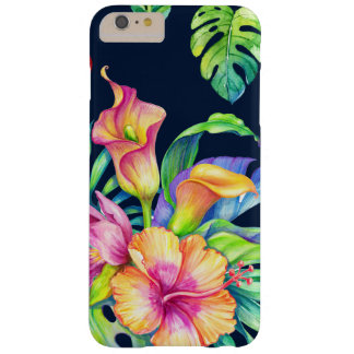 Colourful Tropical Flowers Bouquet Design GR3 Barely There iPhone 6 Plus Case