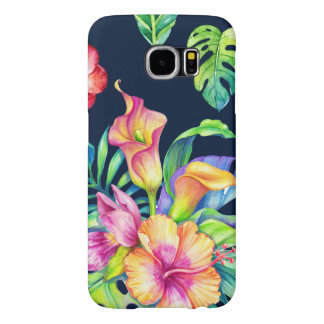 Colourful Tropical Flowers Bouquet Design GR4 Samsung Galaxy S6 Cases